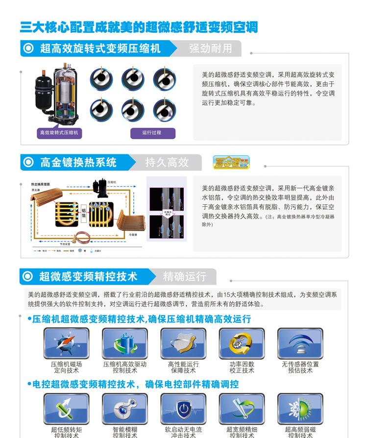 美的(Midea) 大1P壁挂式空调 KFR-26GW/BP2DN1Y-K(3) (限北京)咖啡金