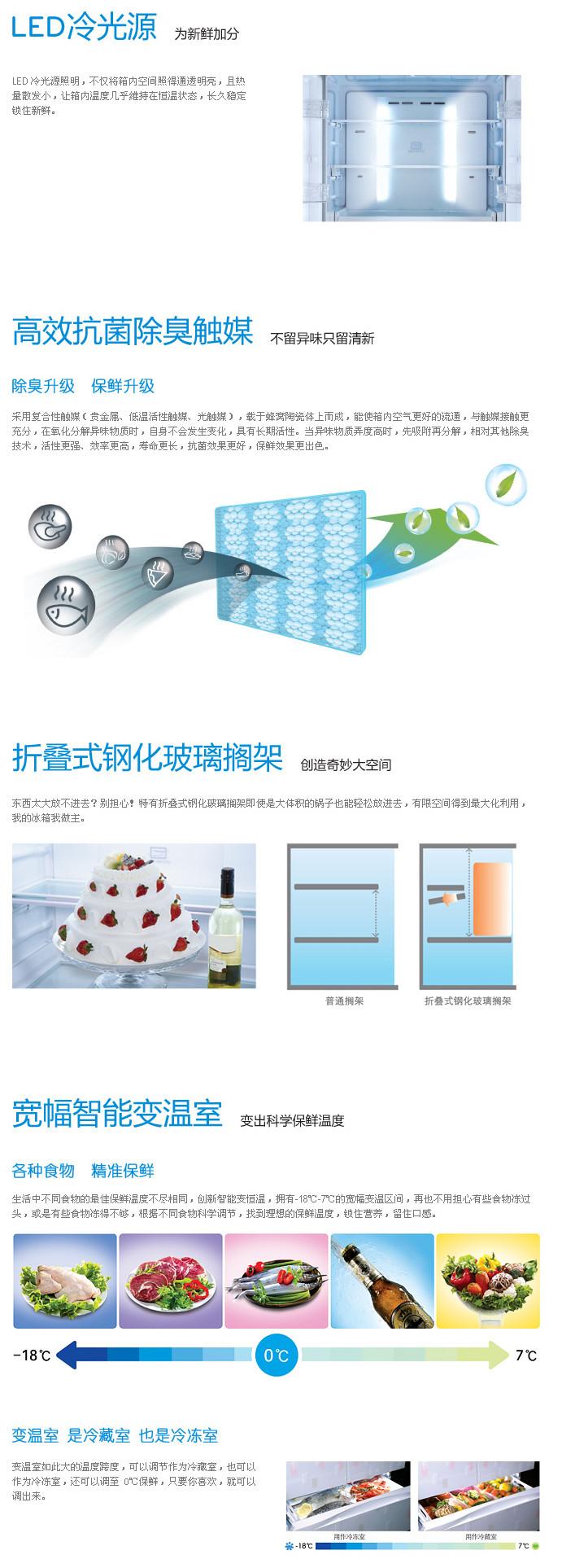lg (lg) 231升三开门冰箱 gr-s25nfr 红色(限北京)